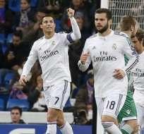 Cristiano Ronaldo marcó de penal. Foto: EFE.