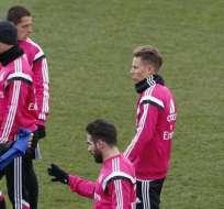 Real Madrid, durante uno de sus entrenamientos (Foto: EFE)