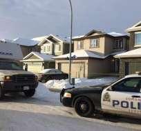 El drama ocurrió en tres lugares diferentes de Edmonton, en la provincia de Alberta.