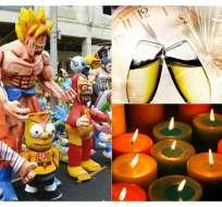 ECUADOR.- Bailes, encendido de velas de colores y oraciones también son característicos a la medianoche en el país. Fotocollage: Ecuavisa
