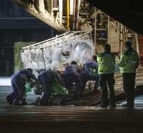 Pauline Cafferkey regresó hace casi una semana a Escocia desde Sierra Leona. Foto: AFP