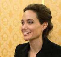 """Jolie presentó en la casina Pio IV, también llamada Villa Pia, su filme """"Invencible"""" (Unbroken). Fotos: EFE."""