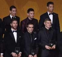 Parte de los jugadores del 11 ideal. Foto: AFP.