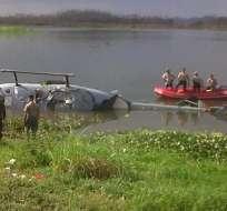 La operación de rescate fue realizada por personal de la Fuerza Aérea y de la Armada Nacional.