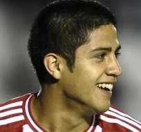 Sergio Díaz, celebra uno de los goles (Foto: EFE)