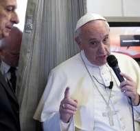 """FILIPINAS.- """"Matar en nombre de Dios es una aberración"""", dijo a la prensa Francisco. Foto: AFP"""