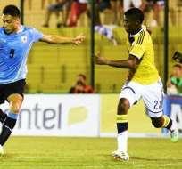 Uruguay enfrentó a Colombia en el Sudamericano Sub-20 (Foto: EFE)