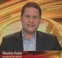 QUITO, Ecuador.- Mauricio Rodas durante su entrevista en Contacto Directo. Foto: Ecuavisa