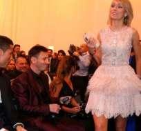 La bella irlandesa impactó a Messi y Cristiano.