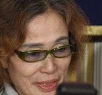 La madre del periodista independiente Kenji Goto, secuestrado por el EI supuestamente a finales de octubre, rogó a las autoridades japonesas que ayudasen a su hijo. Fotos: AFP