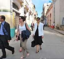Jacobson es la funcionaria de más alto nivel que ha llegado a La Habana desde 1980.  Foto: AFP