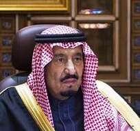 ARABIA SAUDÍ.- El nuevo Rey de Arabia Saudí, Salman bin Abdelaziz, se dirige a la nación por primera vez en condición de monarca. Foto: EFE