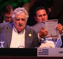 """Mujica:""""La xenofobia de hoy, que empieza a surgir en algunos países contra los inmigrantes"""". Foto: EFE"""