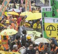 La situación política es tensa en Hong Kong, donde hasta 100.000 personas se manifestaron el año pasado para reclamar mayores libertades. Fotos: EFE.