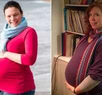 Las amigas Penelope Chaney y Eleanor Marshall esperan dar a luz el 4 de abril.