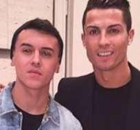 Roldán subió a redes sociales fotos con Cristiano.