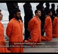 """INTERNACIONAL.- La grabación de los yihadistas se titula """"Un mensaje firmado con sangre para la nación de la cruz"""". Foto: Internet"""