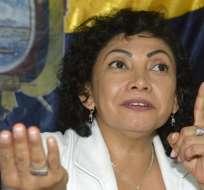 ECUADOR.- La exdirigente del MPD aseguró en su cuenta de Twitter que se trata de un montaje. Foto: Archivo API