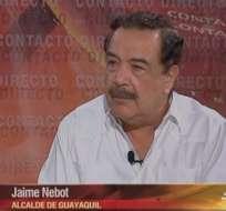 ECUADOR.- Jaime Nebot durante su entrevista en Contacto Directo. Foto: Ecuavisa
