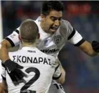 Cristhian Noboa llegó esta temporada como refuerzo para el PAOK.