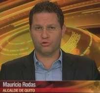 ECUADOR.- Mauricio Rodas durante su entrevista en Contacto Directo. Foto: Ecuavisa