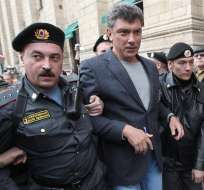 """La muerte de Boris Nemtsov tiene por objetivo """"la desestabilización de la sociedad"""", consideró un responsable del partido pro-Kremlin Rusia Unida. Foto: EFE."""