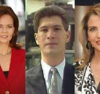 María Isabel de Lebed, Gabriela Baer y Pedro Jiménez son parte representativa de Televistazo.
