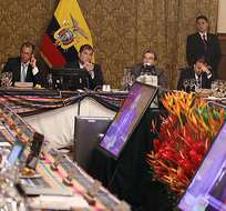 El presidente Rafael Correa reconoció la importancia del sector empresarial para el desarrollo del país, quiere incentivar la inversión privada en el Ecuador. Foto: Presidencia.