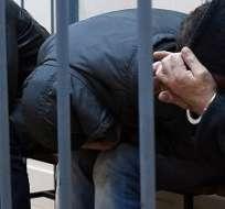 """RUSIA. Los otros tres sospechosos se declararon no culpables, aunque un representante de la investigación dijo ante el tribunal que hay """"pruebas de su participación"""" en los hechos. Fotos: AFP"""