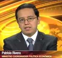 ECUADOR.- Patricio Rivera durante su entrevista en Contacto Directo. Foto: Ecuavisa