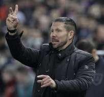 Simeone le ha imprimido un estilo aguerrido al Atlético de Madrid. Foto: EFE.