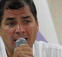 RIOBAMABA.- El primer mandatario se refirió a las protestas convocadas por la oposición. Fotos: Web
