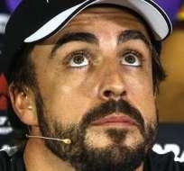 Fernando Alonso, en plena conferencia de prensa (Foto: EFE)