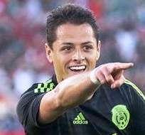 Javier 'Chicharito' Hernández, celebrando su gol ante Ecuador (Foto: EFE)