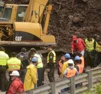 ECUADOR.- Según las autoridades provinciales, la fecha de la reapertura de la vía es incierta. Foto: API