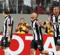 Los jugadores del Atlético Mineiro celebraron uno de los goles (Foto: EFE)