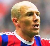 Arjen Robben podría regresar tras una lesión (Foto: Internet)