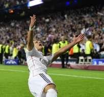 El mexicano anotó el gol del triunfo para Real Madrid ante Atlético de Madrid. Foto: AFP.