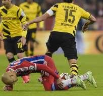 Robben no llegó ni a 20 minutos en cancha. Foto: AFP.