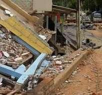 EL ORO.- En Zaruma cuatro viviendas quedaron totalmente destruidas. Fotos: Twitter  Diario Correo