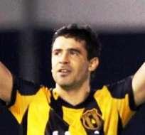 Julián Benítez, anotador del gol del triunfo de Guaraní (Foto: EFE)