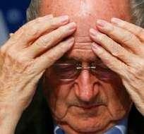 """""""Sé que los acontecimientos de hoy afectarán a la forma en que mucha gente nos ve"""", aseveró Blatter."""