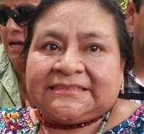"""Rigoberta Menchú calificó el daño de un """"doble crimen"""" y dijo que suma a la lucha contra la petrolera. Fotos: Ministerio de Ambiente."""