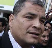 QUITO.- El mandatario se refirió hoy sobre las marchas que se realizaron ayer en Guayaquil y Quito. Fotos: API.