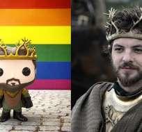 """""""Siéntete orgulloso"""", dice el mensaje en el que aparece un muñeco del Renly Baratheon."""