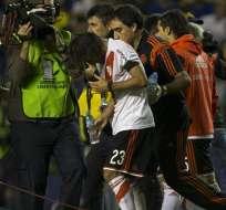 Varios jugadores de River resultaron afectados por los químicos utilizados en su contra por hinchas de Boca.