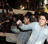 QUITO, Ecuador.- El presidente Correa aseguró que hubo agresión a policías en marchas del jueves anterior. Fotos: API