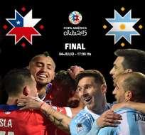 Desde las 15h00 jugarán Chile y Argentina.