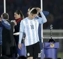El jugador deseaba levantar la Copa con Argentina. Foto: EFE.