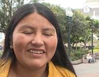 QUITO.- Dayllana Passailaigue nos lleva al desenlace de la historia de Tituania, cantante del coro  Vosú. Foto: Tomado de captura de video.